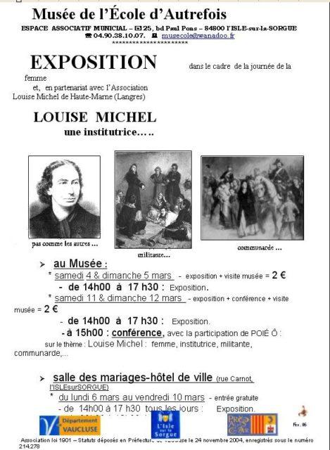 du 4 au 12 mars 2006 - Exposition et conférence sur Louise Michel