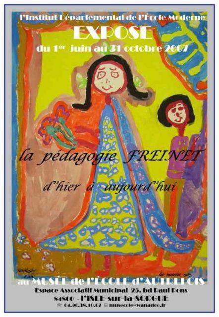 """1er juin-31 octobre - exposition : la pédagogie Freinet"""""""
