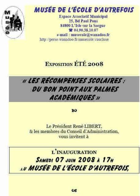 """Été 2008 - Exposition """"les récompenses scolaires"""