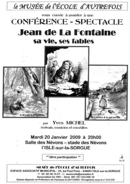 20 janvier 2009 - conférence d'Yves Michel sur Jean de La Fontaine