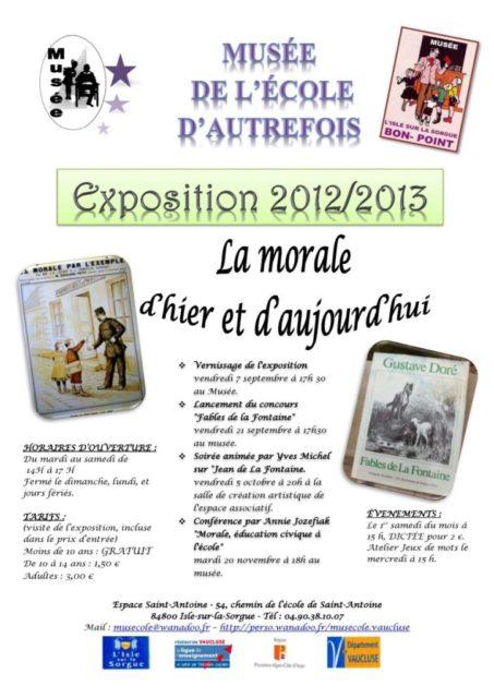 Du 5 septembre au 20 novembre 2012 - conférence, expo, concours, soirée animée