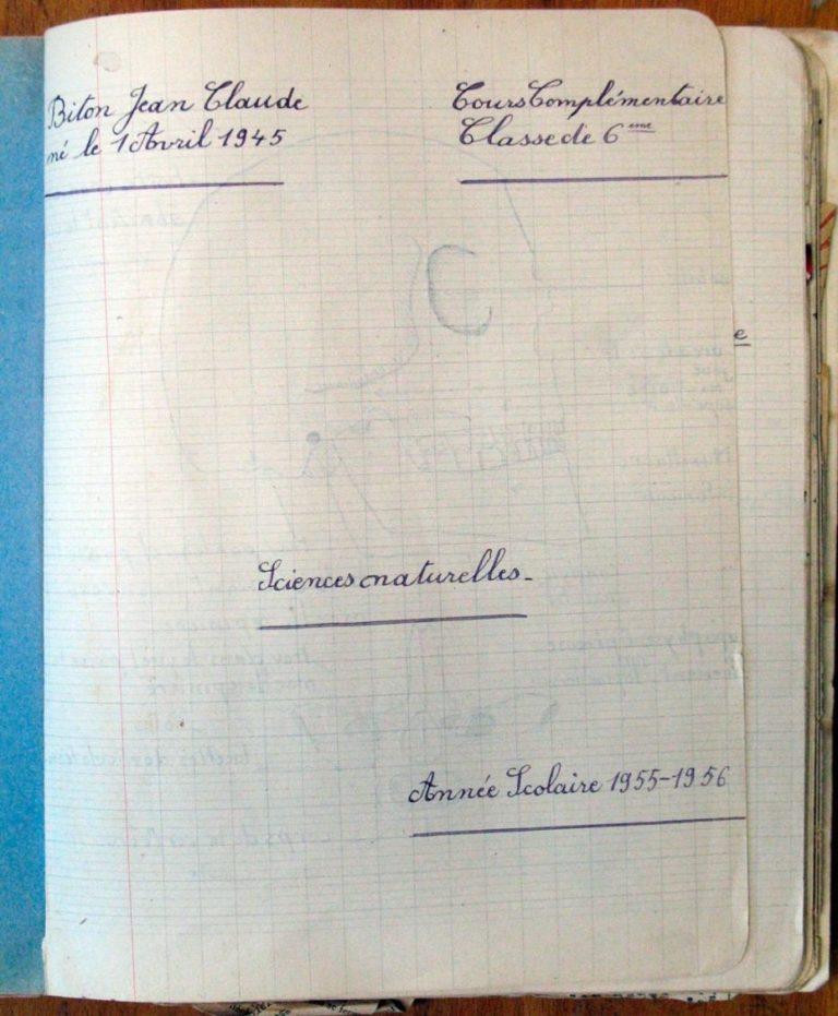 Cahier de 1955