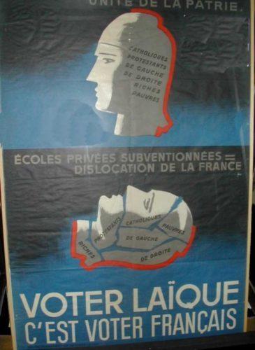 Affiches Voter laïque