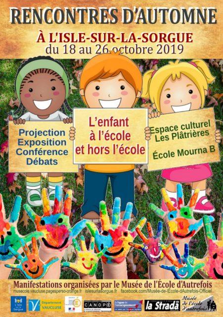 18-26 octobre 2019 - Rencontres d'automne...