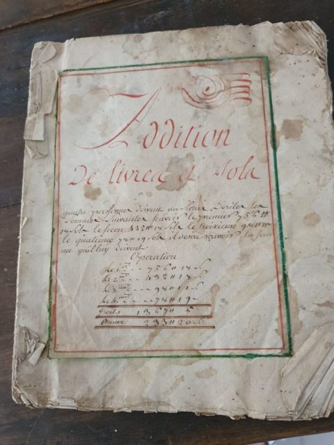 Page d'un manuscrit de mathématiques du Comtat Venaissin de 1760/1780