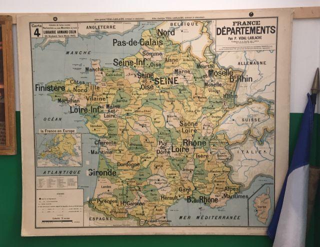 Carte Vidal Lablache - les départements -