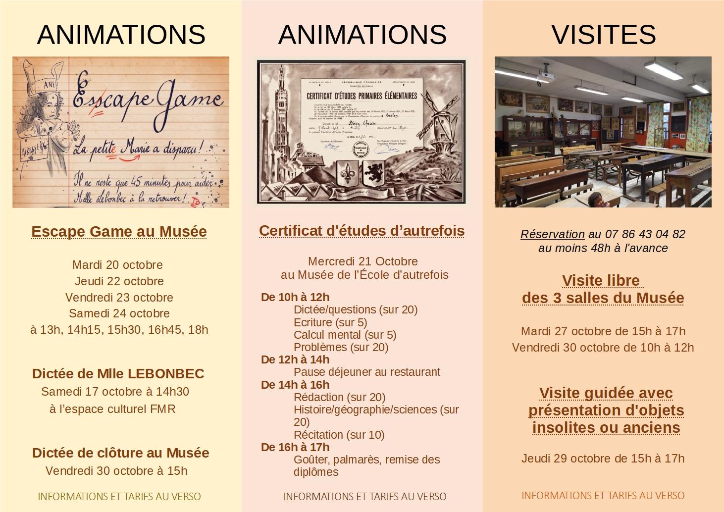15-30 octobre 2020 le musée fête ses 15 ans - dépliant verso