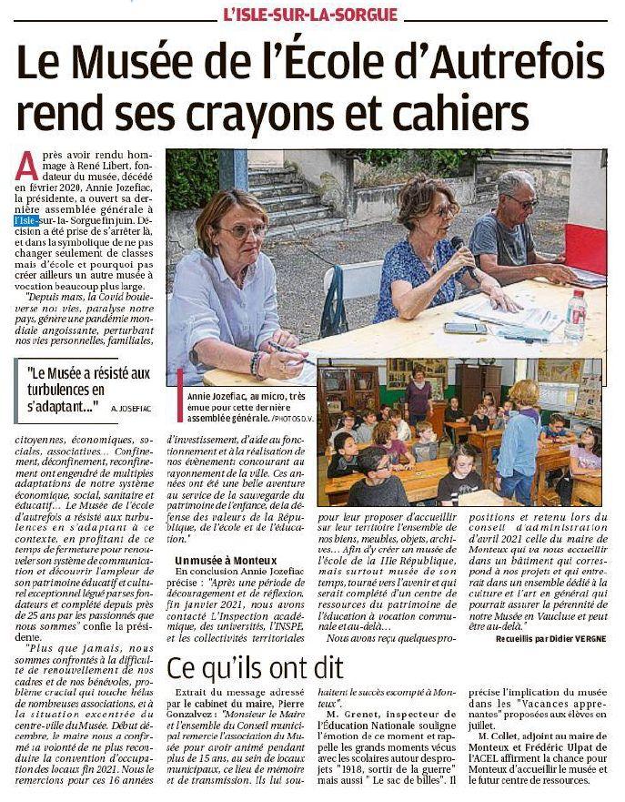 La Provence 22 juillet 2021